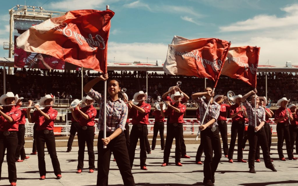 The Calgary Stampede Marching bands, my favourite 'to-see' item.