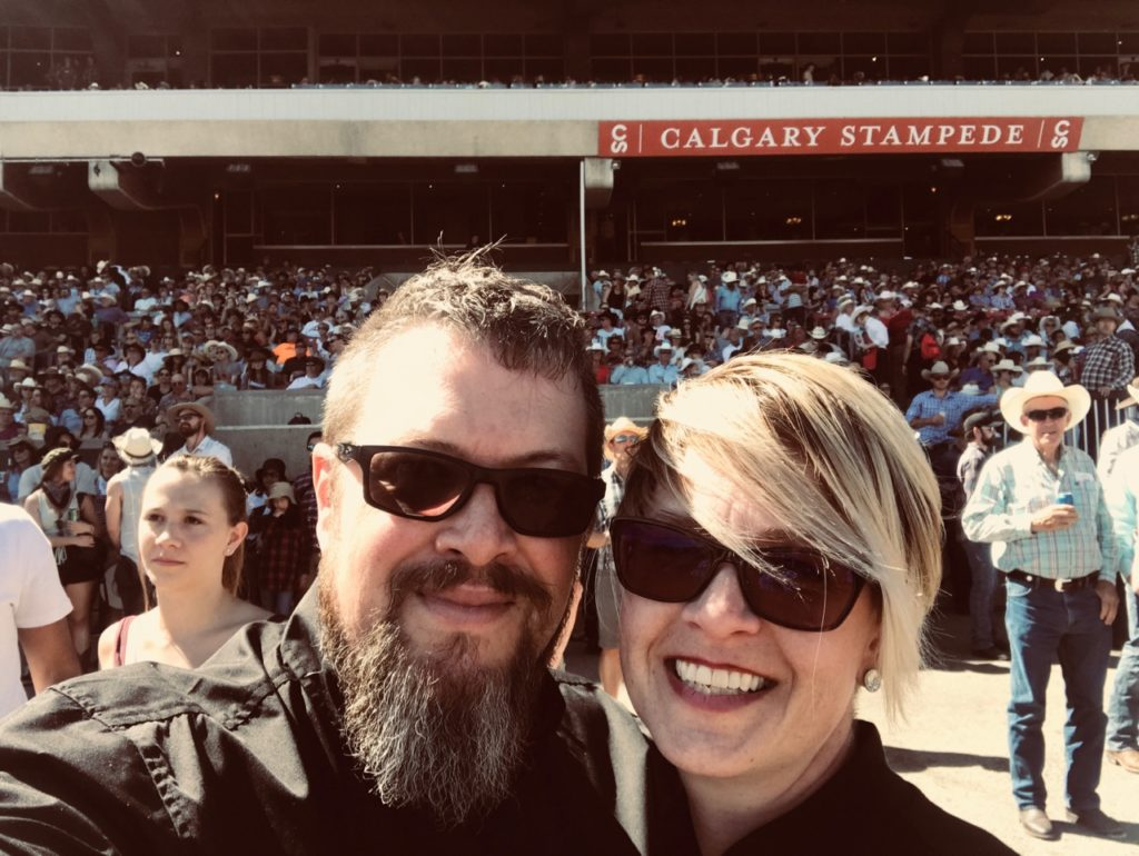 Me, Valerie Moss and my hubby enjoying the Stampede