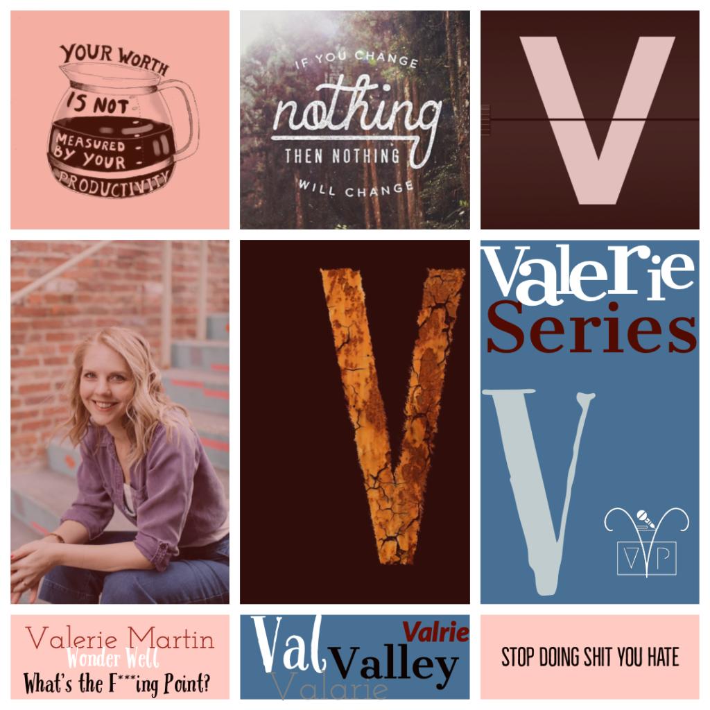 Valerie Martin with me, Valerie Moss on the 'Valerie Series'