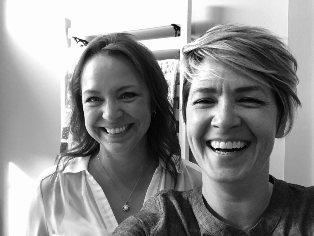 Valora Douglas and me, Valerie Moss taking some selfies in Studio 17.