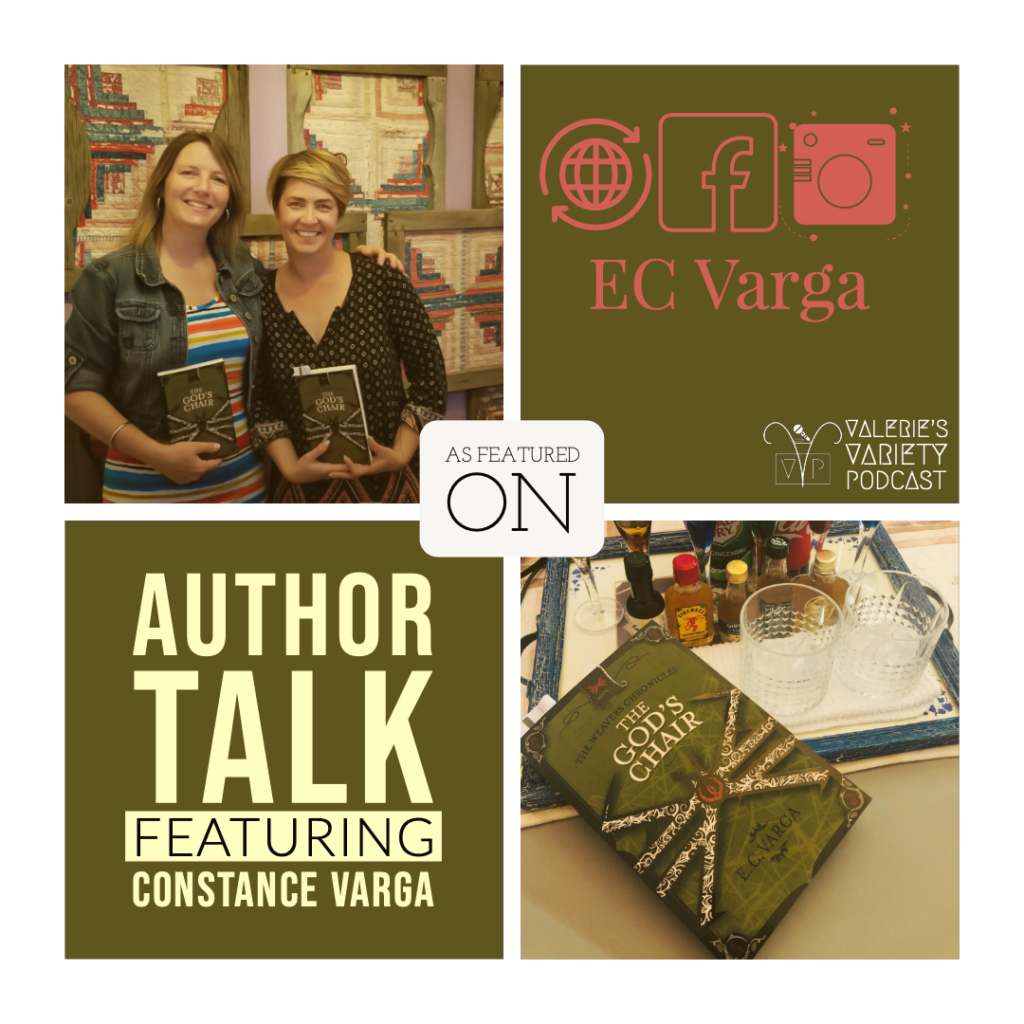 Author Talk on E.C.Varga with her new book The God's Chair book 1 of the Weavers Chronicles.