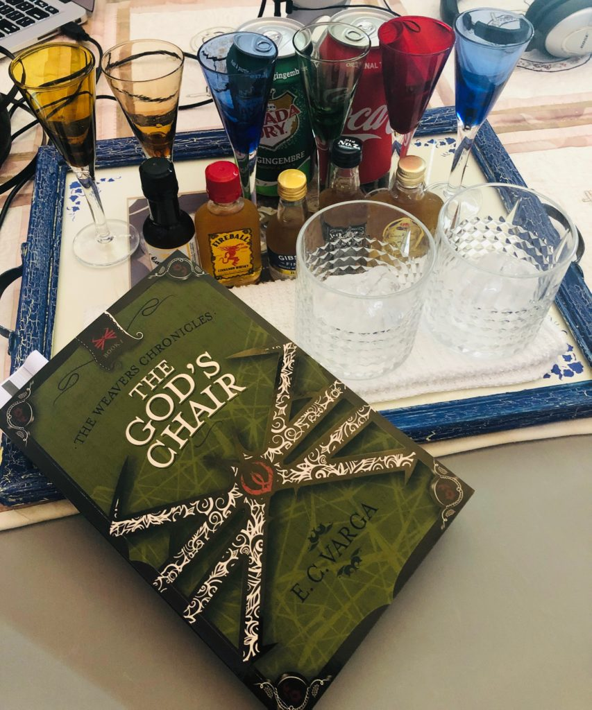 pairing whiskey with words discussing Constance Varga's book The God's Chair